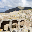 Ancient Thira at Santorini island in Greece — Stock Photo