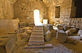 Castle of Lindos at Rhodes island in Greece — Stock Photo