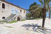 Casa en chalkidiki hecha piedra tradicional en grecia — Foto de Stock