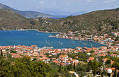 Vathi bay at Ithaki island in Greece — Stock Photo