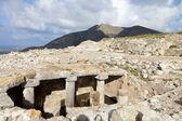 Ancient Thira at Santorini island in Greece — Stock Photo
