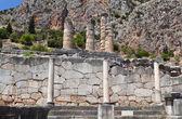 Templo de apolo, em delfos, na grécia — Fotografia Stock