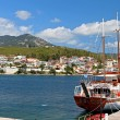 Neos Marmaras at Halkidiki peninsula in Greece - Stock Photo