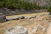 Starověké stadion na delfi archeologická lokalita v řecku — Stock fotografie