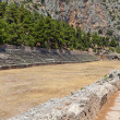 Ancient stadium at Delfi archaeological site in Greece - Stok fotoraf