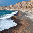 Stock Photo: Scenic coastline at Santorini island in Greece