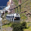 Stock Photo: Cable car at Santorini island in Greece