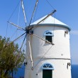 traditional windmill at zakynthos island in greece — Stock Photo