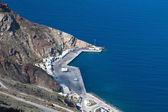 Athinios hamn på santoriniön i grekland — Stockfoto