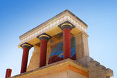 Knossos palace at Crete island in Greece — Stock Photo