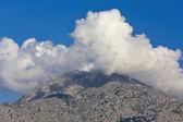 Island of Samothraki in Greece. View of the 'Fengari' top — Stock Photo
