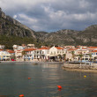 Traditional village and bay of Monemvasia at Greece — Stock Photo