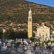Traditional Greek orthodox church at Kefalonia island - Stockfoto