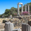 Temple of the Great Gods at Samothraki island in Greece - Stock Photo