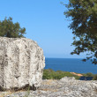 Stock Photo: Archaeological site at Samothraki island in Greece