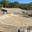 Ancient hellenistic theater at Samothrace island in Greece - Stock Photo