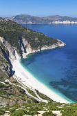 Mirtos beach at Kefalonia island in Greece — Stock fotografie