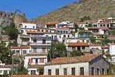 Village of 'Chora' at Samothraki island in Greece — Foto de Stock