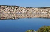 город аргостоли на остров кефалония в греции — Стоковое фото