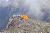 Camping at the top of Greece of Mt. Olympus. — Stock Photo