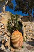 Traditional Greek house at Monemvasia in Greece — Stock Photo