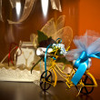 Bicycle miniature toy - Stock Photo