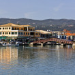 Island and city of Lefkada at ionio, Greece — Stock Photo