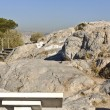 Ancient law court of Areopagus rock at Athens, Greece — Stock Photo