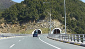 Egnatia international highway at Greece — Stok fotoğraf