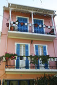 Typical traditional Greek house at Lefkada island, Greece — Stock Photo