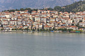 Kastoria traditional old city by the lake at Greece — Stock Photo