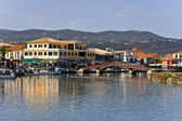 Island and city of Lefkada at ionio, Greece — Стоковое фото