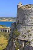 Castle and coast of methoni at Greece — Stock fotografie
