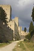 Castello dei cavalieri a Rodi, Grecia — Foto Stock