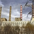 Charcoal electric power plant at Ptolemaida, Greece — Foto Stock