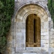 Old medieval door at Filerimos, Rhodes, Greece — Stock Photo