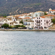 Scenic fishing village of Galaxidi in Greece - Stock Photo