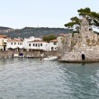 scenic fishing port of nafpaktos city in greece — Stock Photo