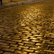Stock Photo: Old stone pavement street at Greece