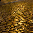 Old stone pavement street at Greece — Stock Photo