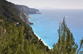 Egremni coast at Lefkada island, Greece — Stock Photo
