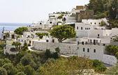 Lindos traditional Greek village at Rhodes island — Stock Photo