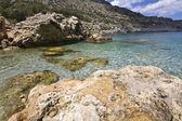 Plage de l'île de rhodes, grèce — Photo