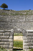 Greek ancient theater of Dodoni at Ioannina, Greece — Stock Photo