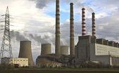 Carbone centrale elettrica a ptolemaida, grecia — Foto Stock