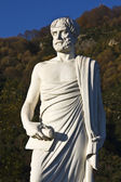 Aristotle statue located at Stageira in Greece — Stock Photo