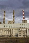 Charcoal electric power plant at Ptolemaida, Greece — Stock Photo