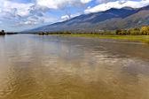 北ギリシャで川 strymonas — ストック写真