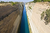 Canal water passage of Corinth in Europe, Greece — Fotografia Stock