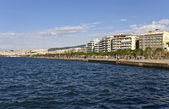 Waterfront at Thessaloniki city in Greece — Stock Photo